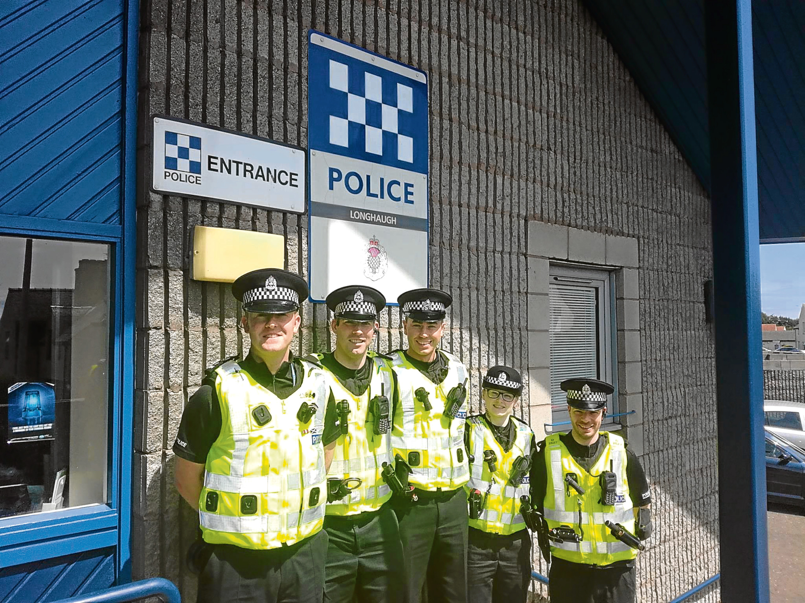 The Longhaugh community police team.