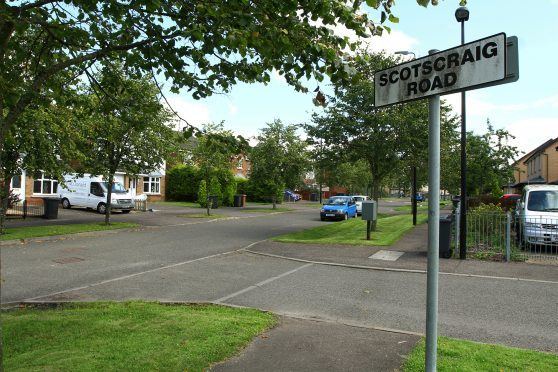 The junction of Scotscraig Road and Gleneagles Avenue in Ardler