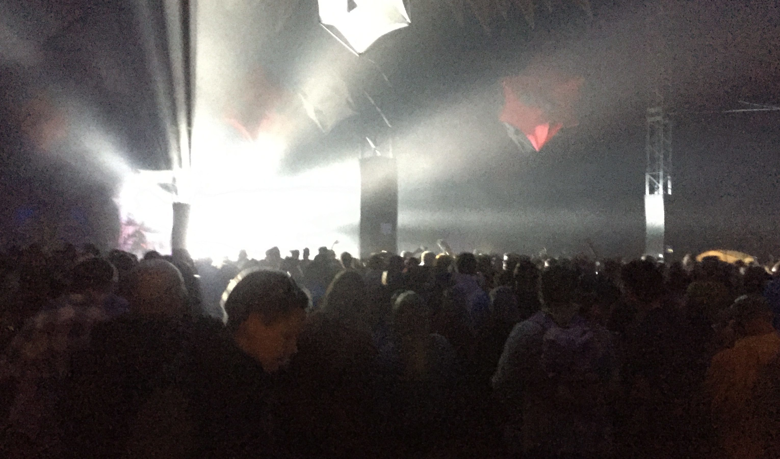 The packed-out Rhumba tent