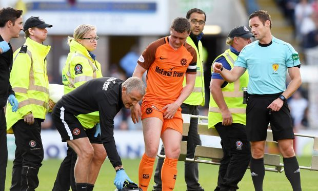 Tam Scobbie faces months on the sidelines after sustaining a groin injury in the Betfred Cup Dundee derby.