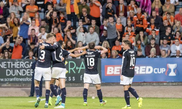 Paul McGowan scored the winner in the game that finished 2-1 Dundee