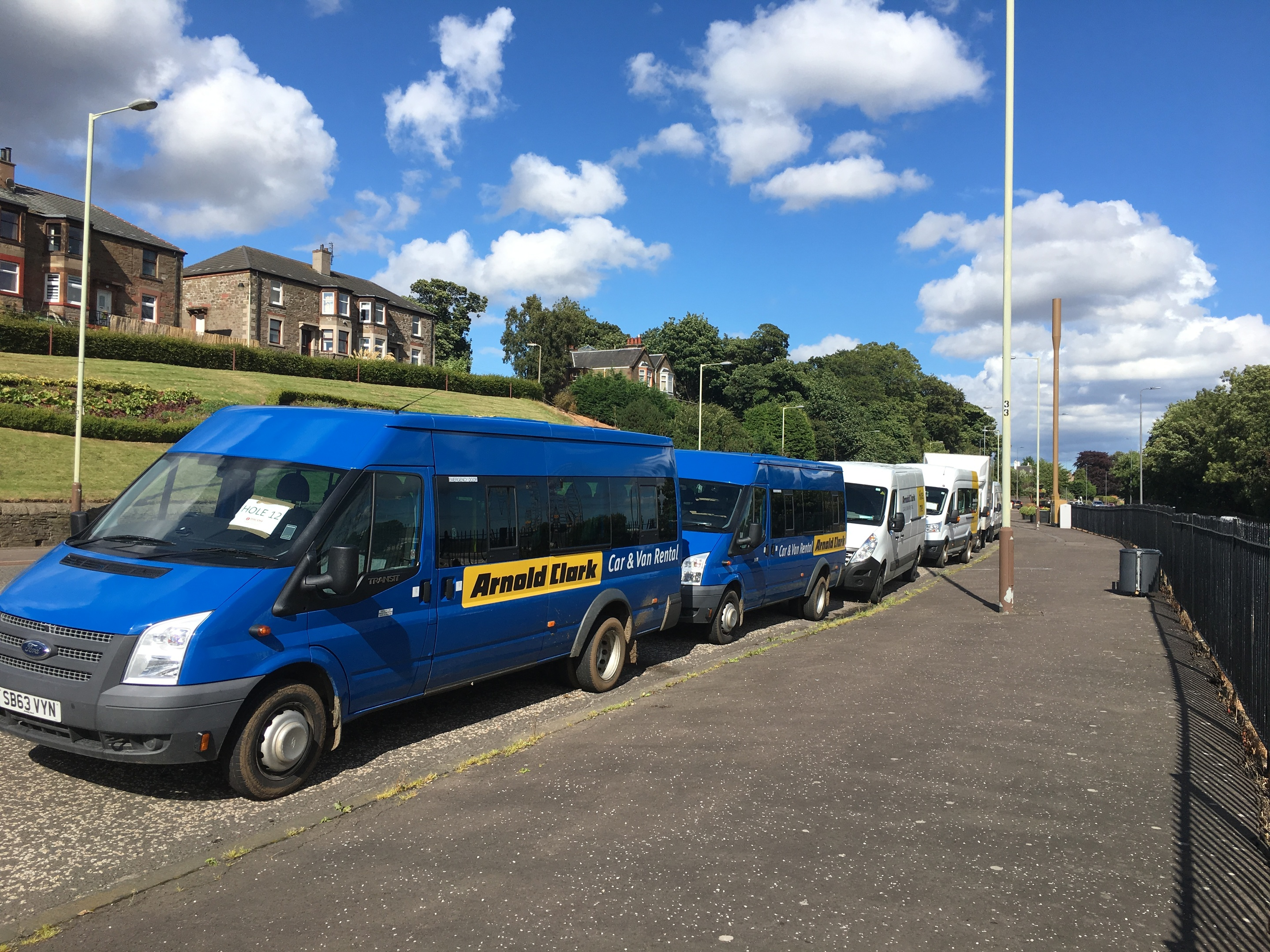 The vans parked on Broughty Ferry Road
