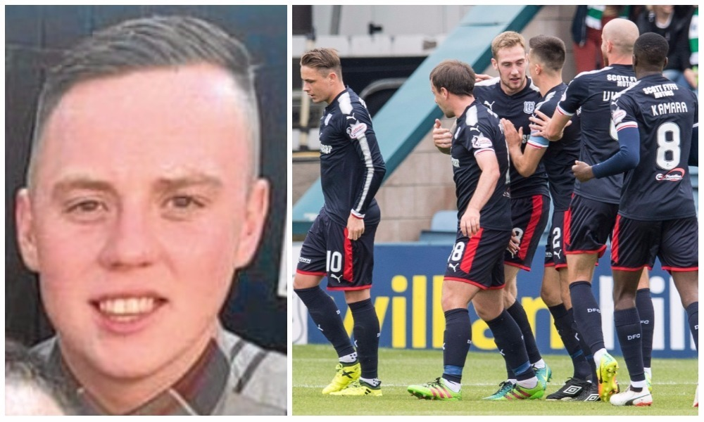 Jordan Taylor shouted vile homophobic abuse at Dundee players during Sunday's game.