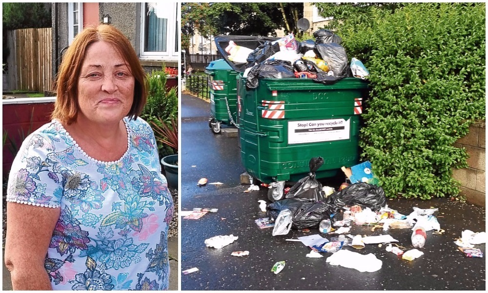 """Jacqueline Higgins has described the rubbish near her home as a """"disgusting eyesore""""."""