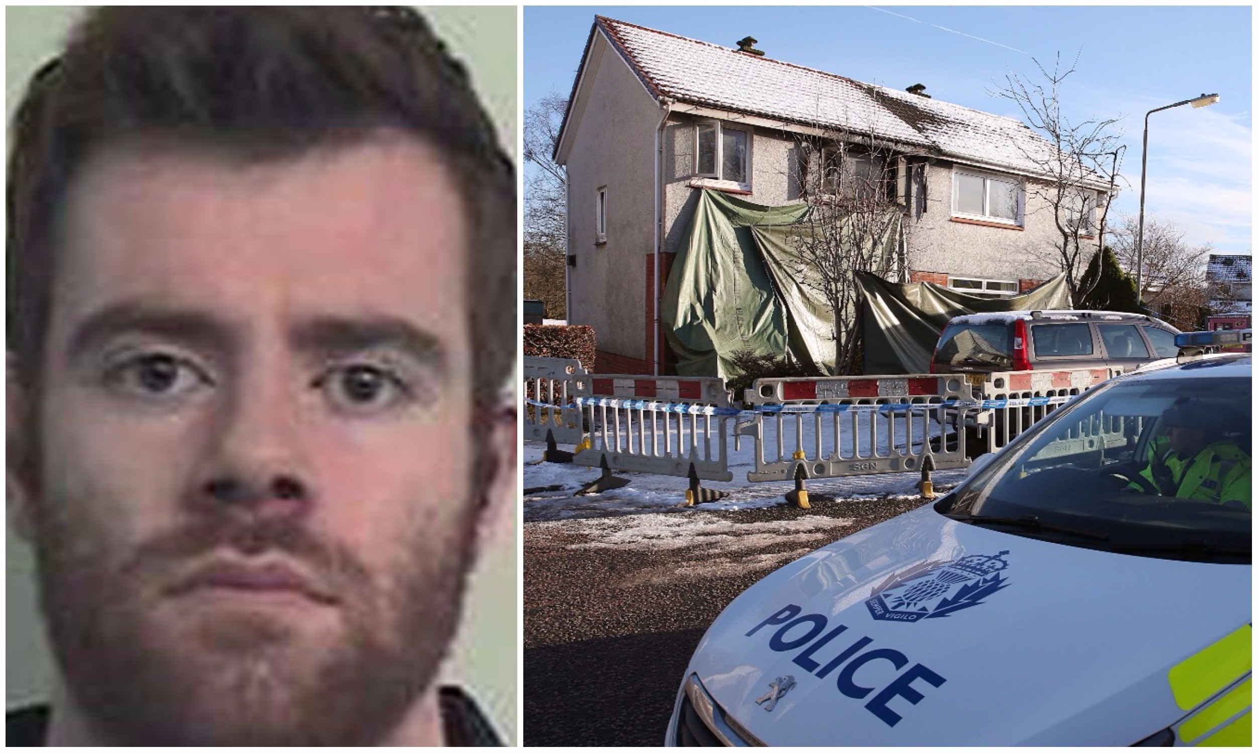 Blair Logan poured petrol on his younger brother Cameron in the family home.