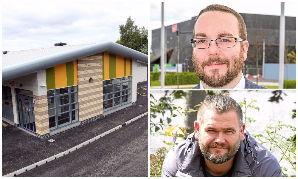 Gregor Murray, top, and Rev Bob Mallinson are both the subject of complaints following a row at Tayview Primary.