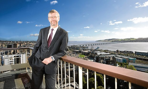 Sir Pete Downes, principal and vice-chancellor of the University of Dundee, who is welcoming the students to the city