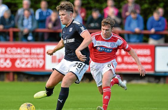 Lewis Spence has found game time hard to come by since signing for Dundee.