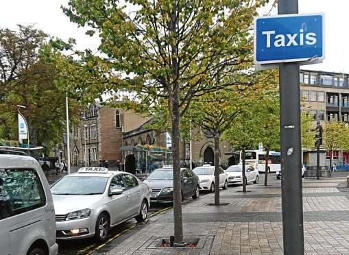 The taxi rank in Albert Square