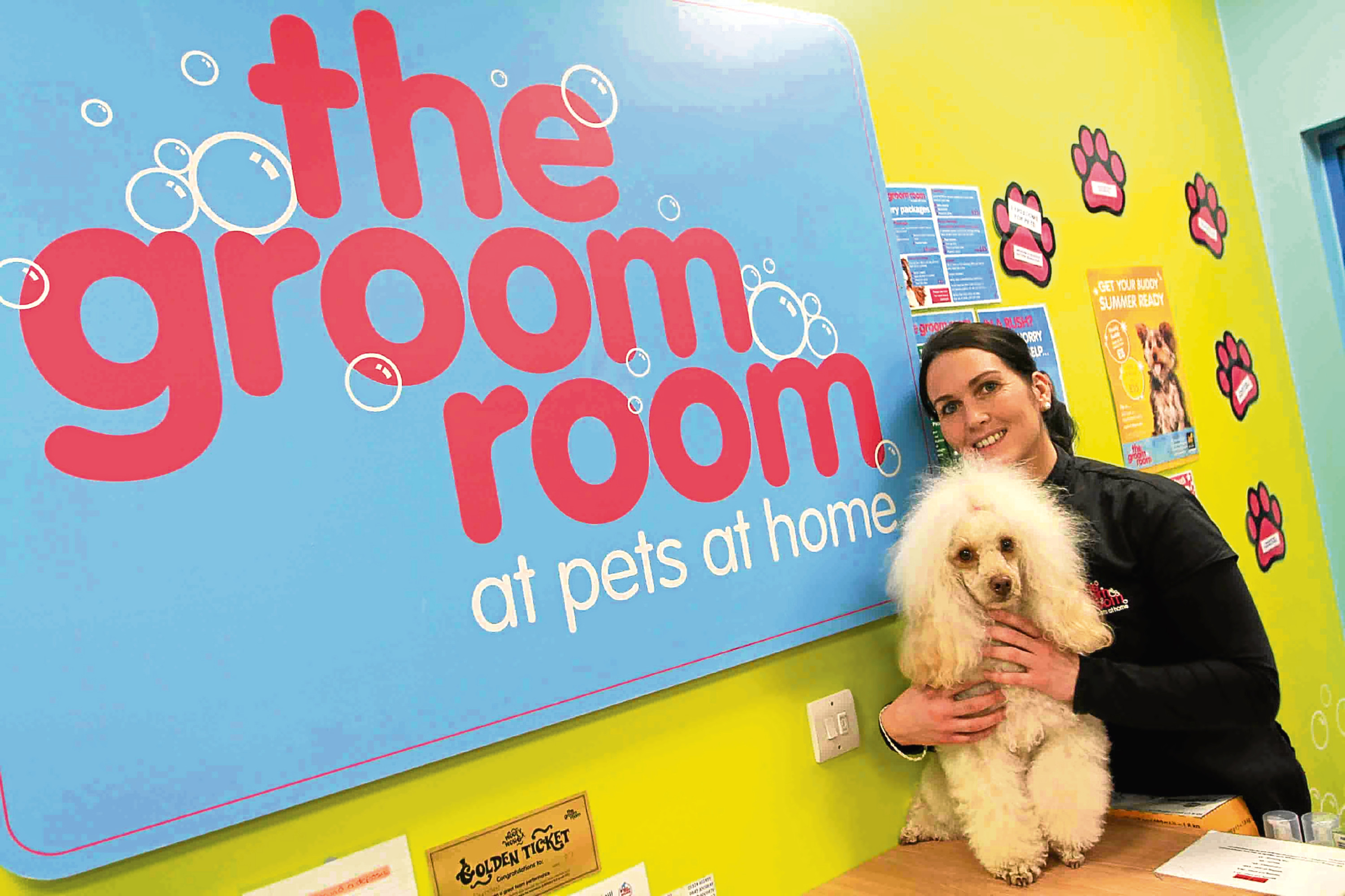 Lisa McIlreavy at the Groom Room in Pets At Home