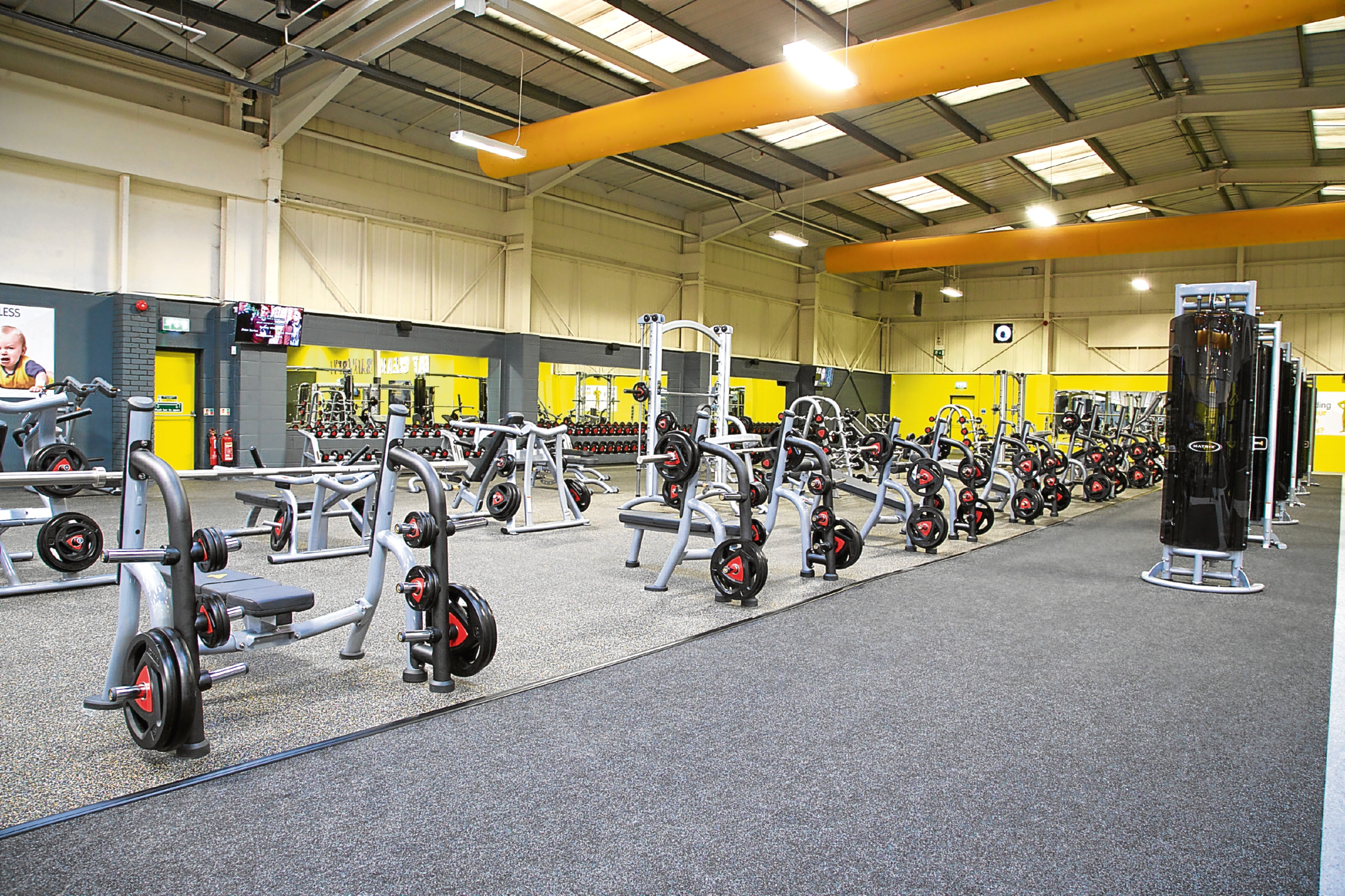 A typical Xercise4Less gym floor
