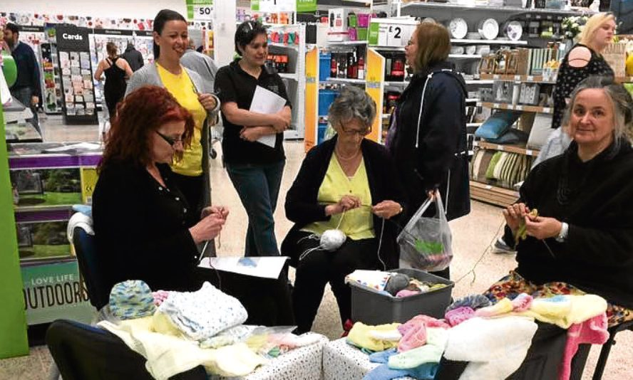 After dedicating half a day to knitting, colleagues and customers raised £205, which was doubled by the Asda Foundation, making a total of £410, in aid of the Sunshine Box