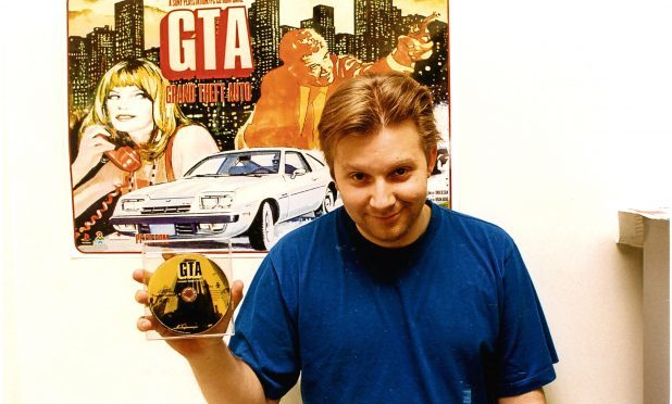 Brian Baglow with the Grand Theft Auto game shortly after its release
