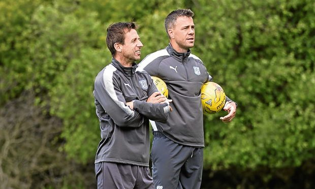 Dundee manager Neil McCann and his assistant Graham Gartland have both left the club