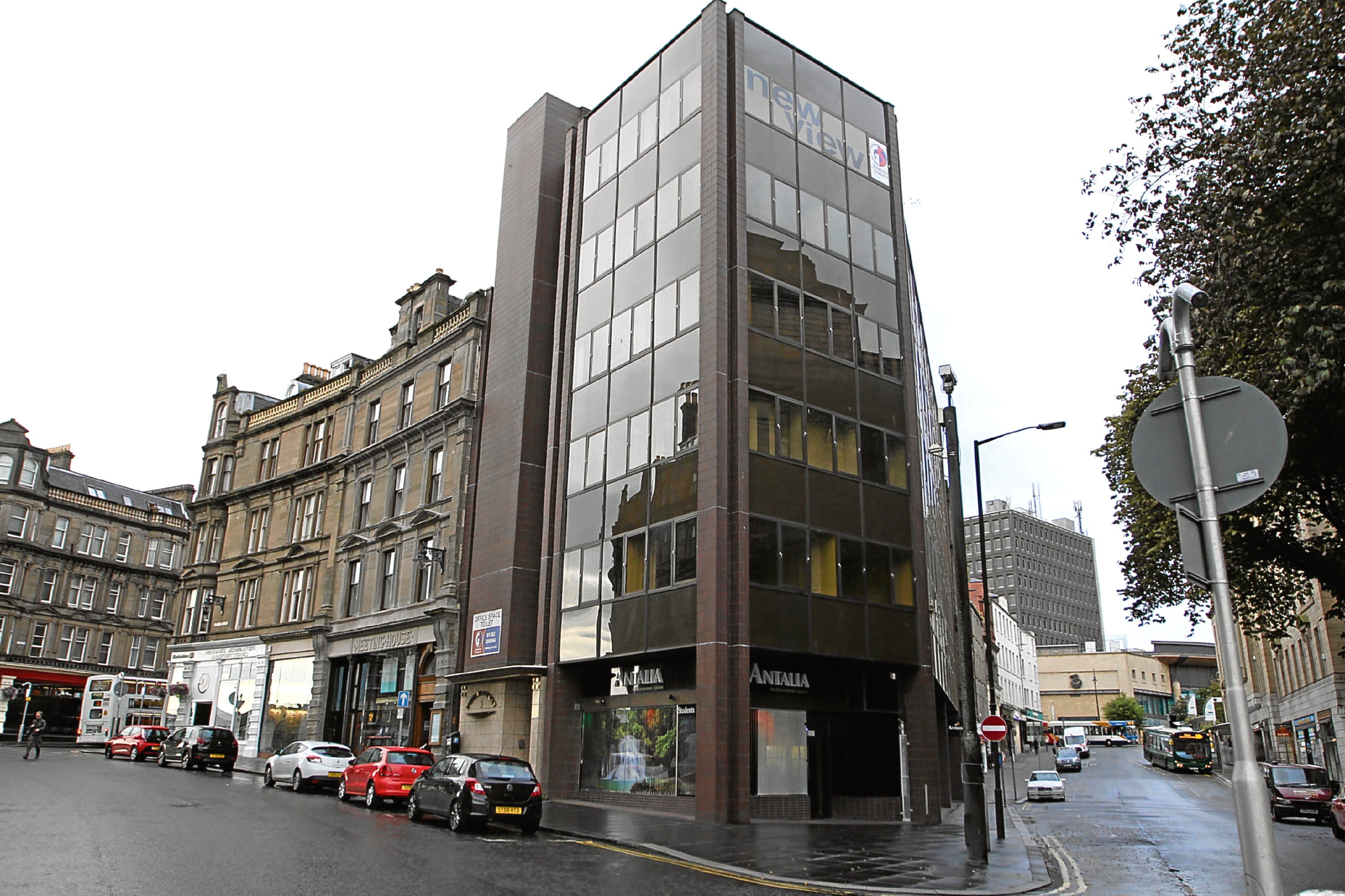 Vacant offices at the corner of Whitehall Crescent and Crichton Street