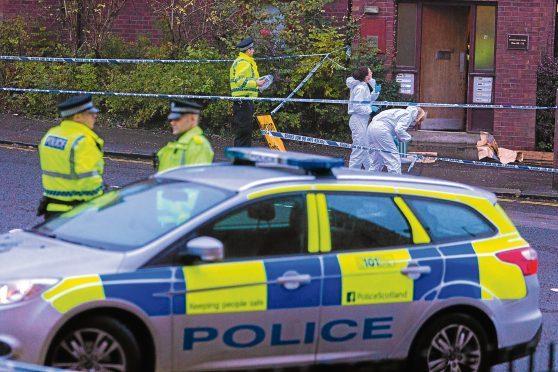 Police on the scene on Arklay Street