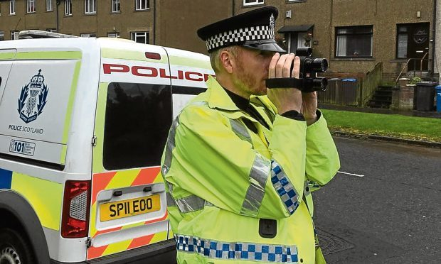Community officers based at Longhaugh Police Station have carried out a two week road safety initiative in Fintry, Whitfield and elsewhere
