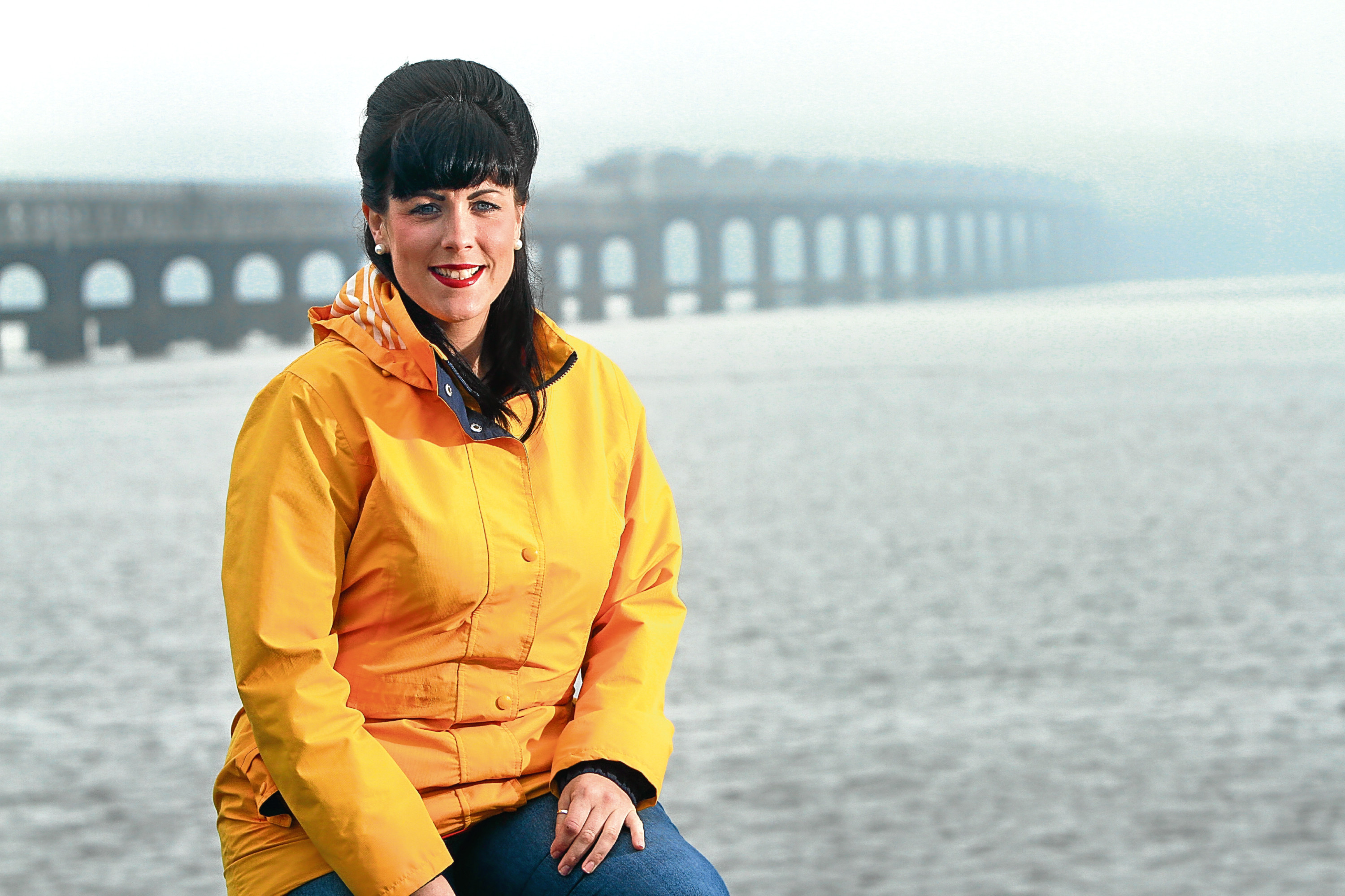 Linsay Duncan on the banks of the River Tay