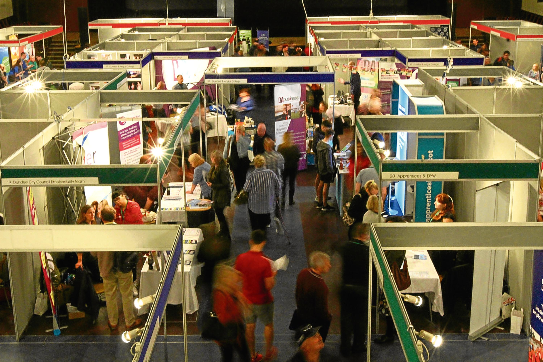 Attendees at a previous jobs fair at the Caird Hall