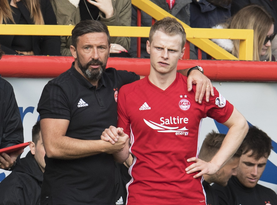Former Dundee United man Gary Mackay_Steven with now-boss Derek McInnes