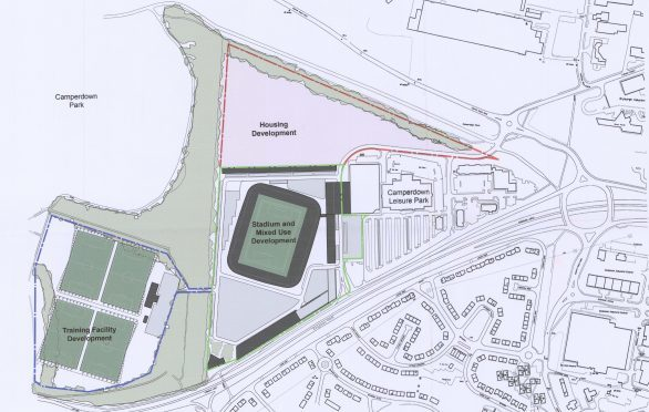 A blueprint of the proposed development at Camperdown Leisure Park.