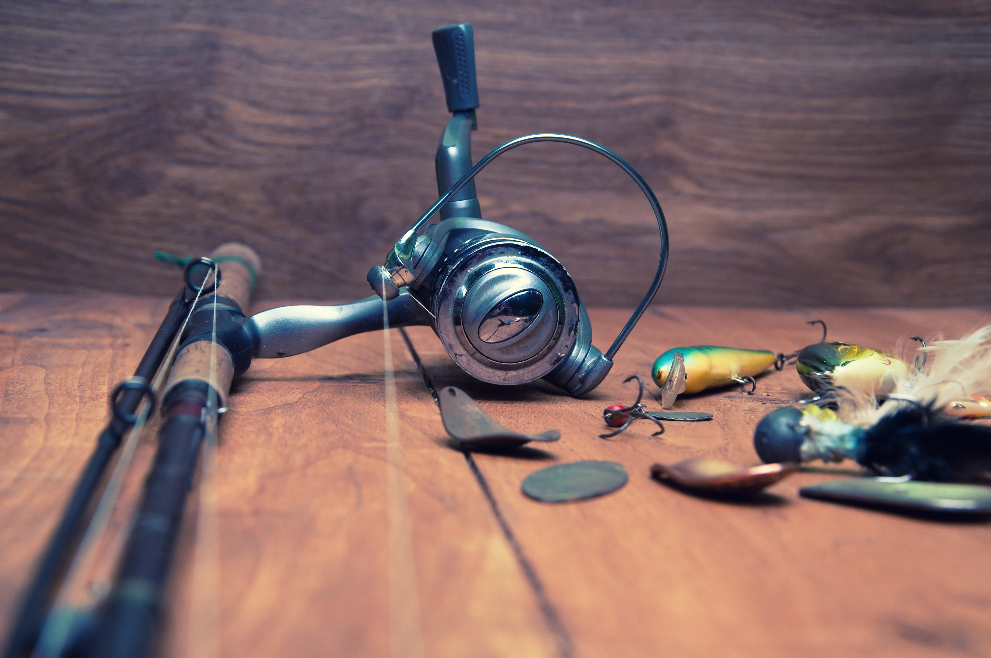 Fishing equipment (stock image)