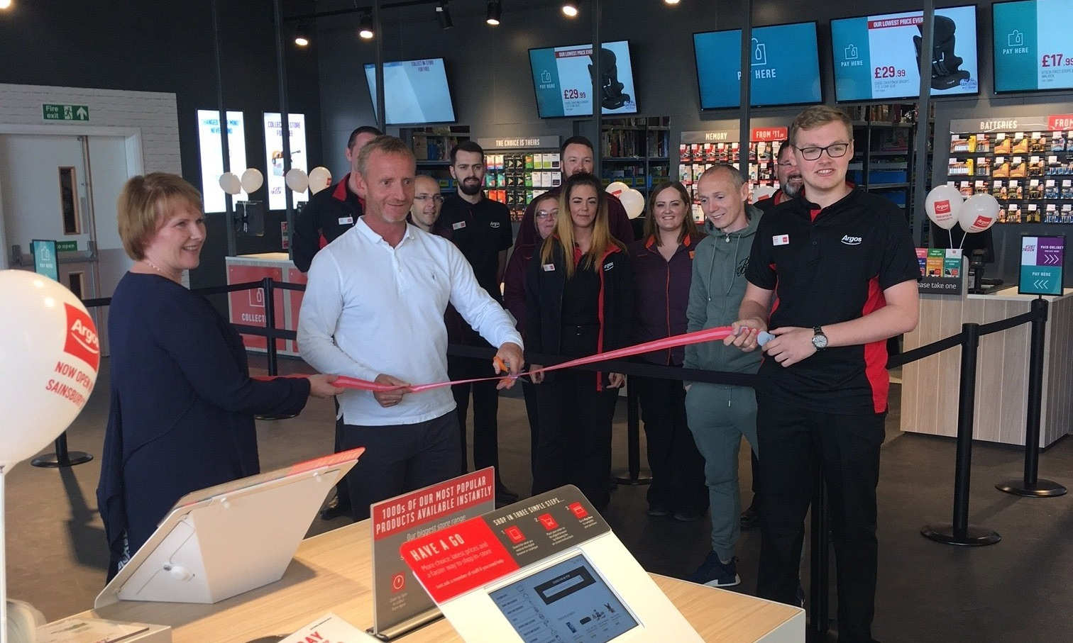 Dave Bowman and Dundee United captain Willo Flood were on hand to open the new Argos