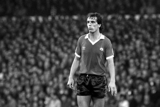 Joe Jordan as Manchester United player in 1978