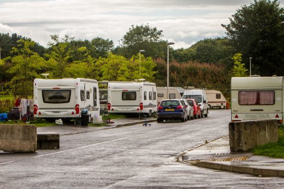 Travellers at the new Food and Drink park