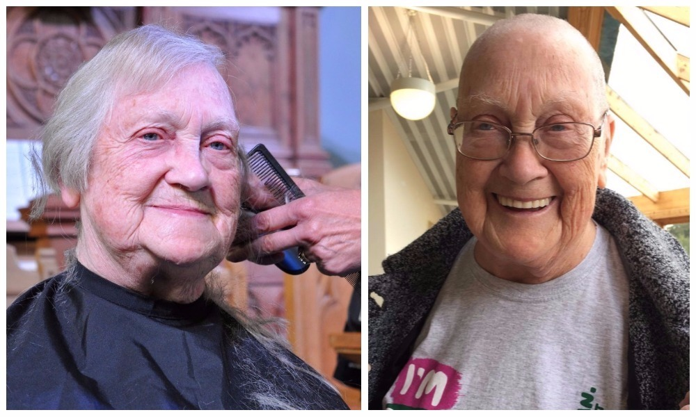 May Smith before and after her head shave
