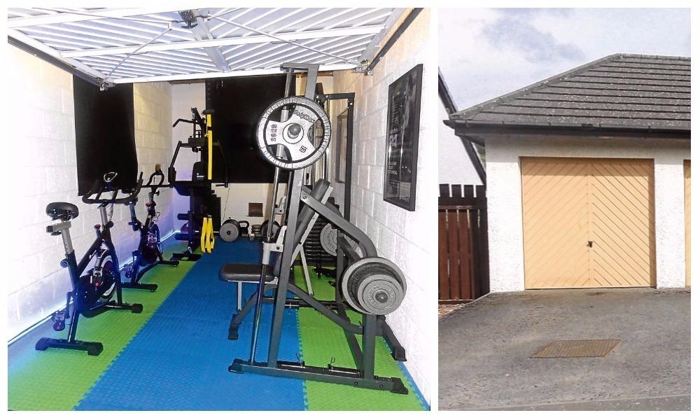 The gym garage on Emmock Woods Drive.