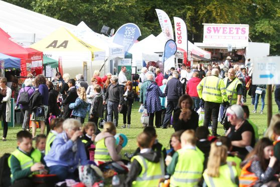 A large crowd at the opening day of the festival on Friday