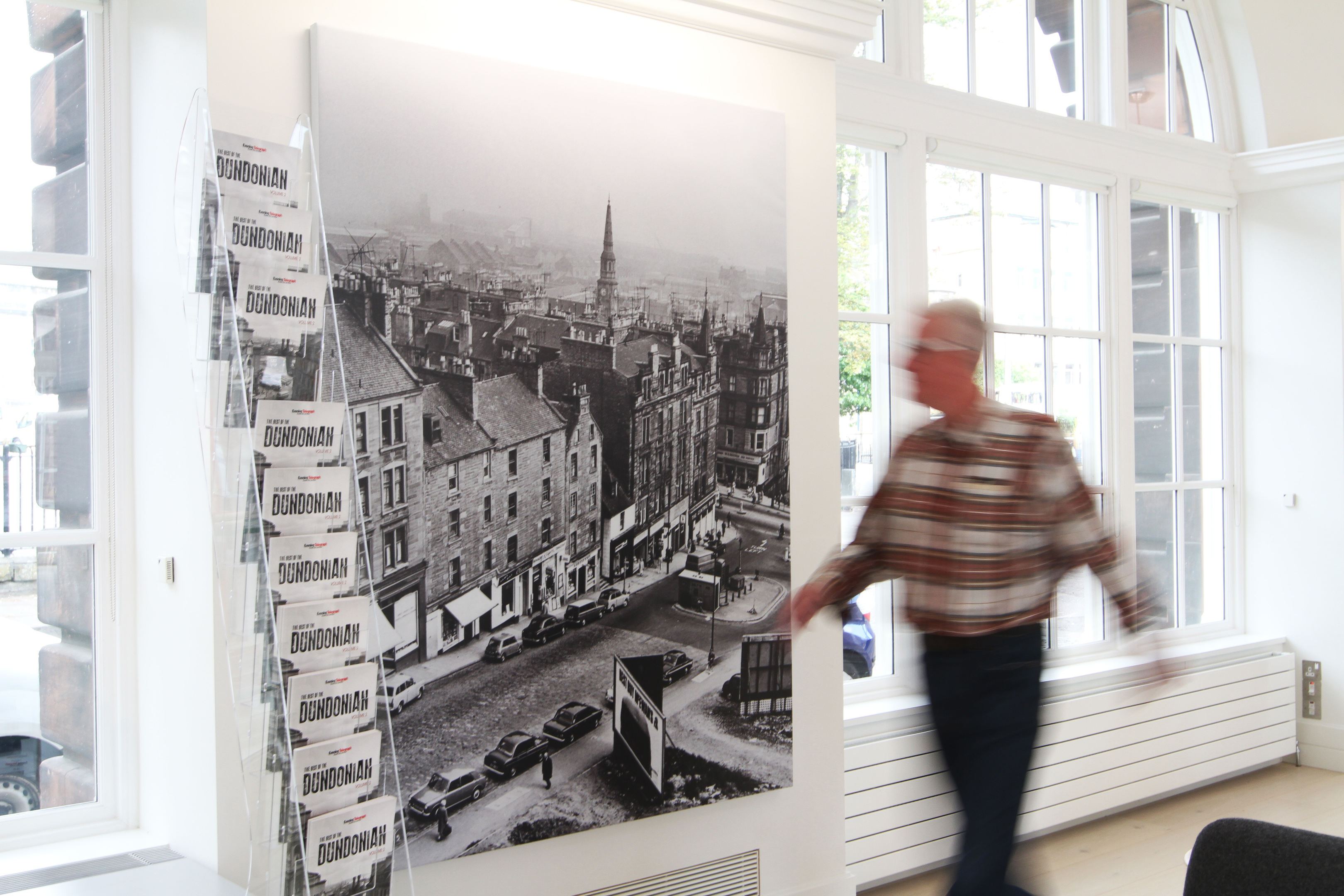 The exhibition on display at Meadowside