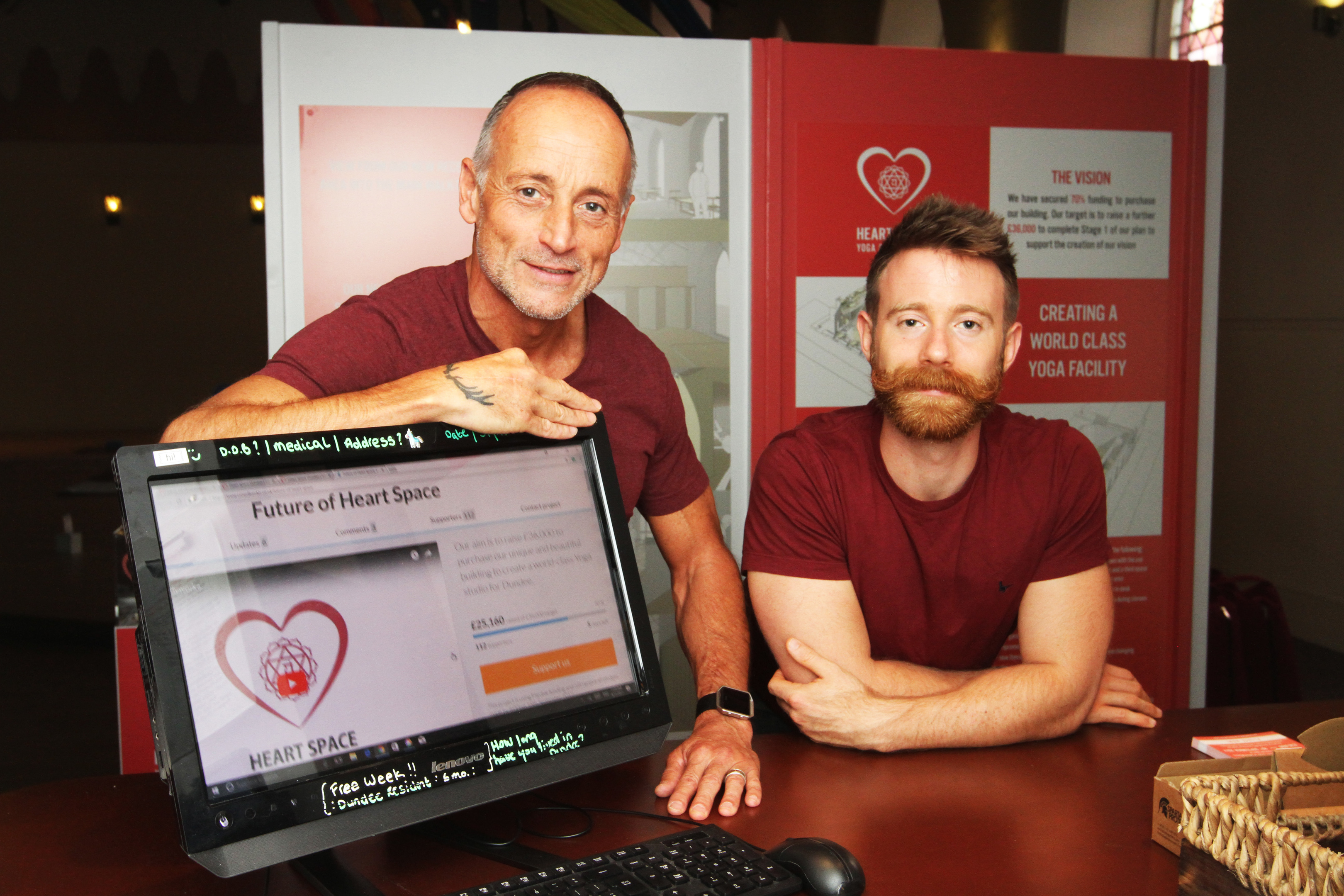 Ian Alexander and Finlay Wilson who are behind the fundraising campaign