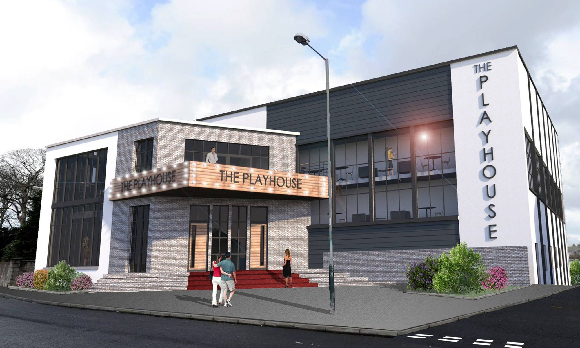 An artist impression of the new cinema