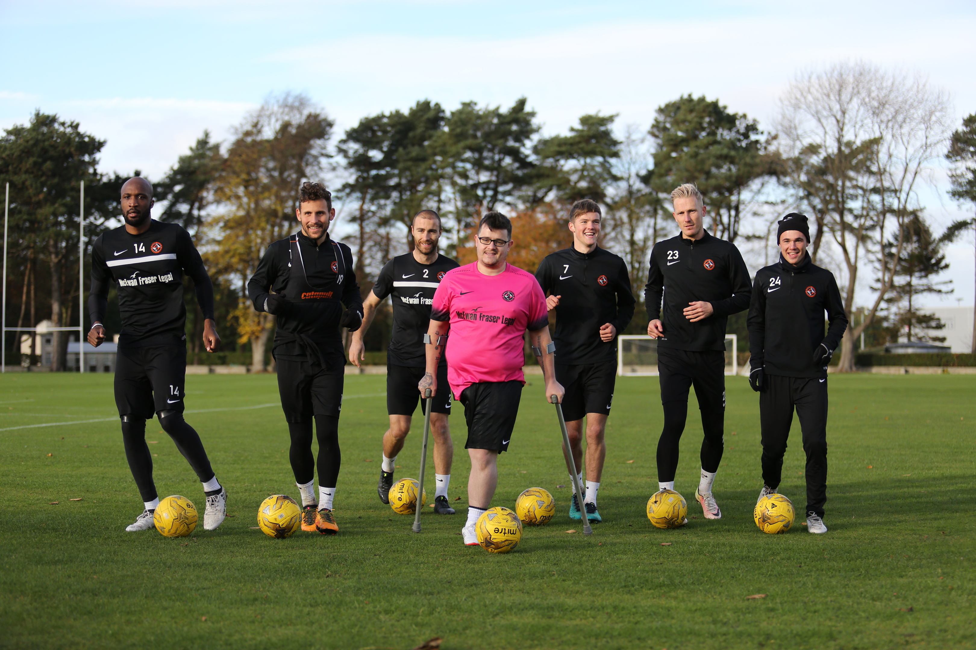 Tommy McKay with the Dundee United squad last season
