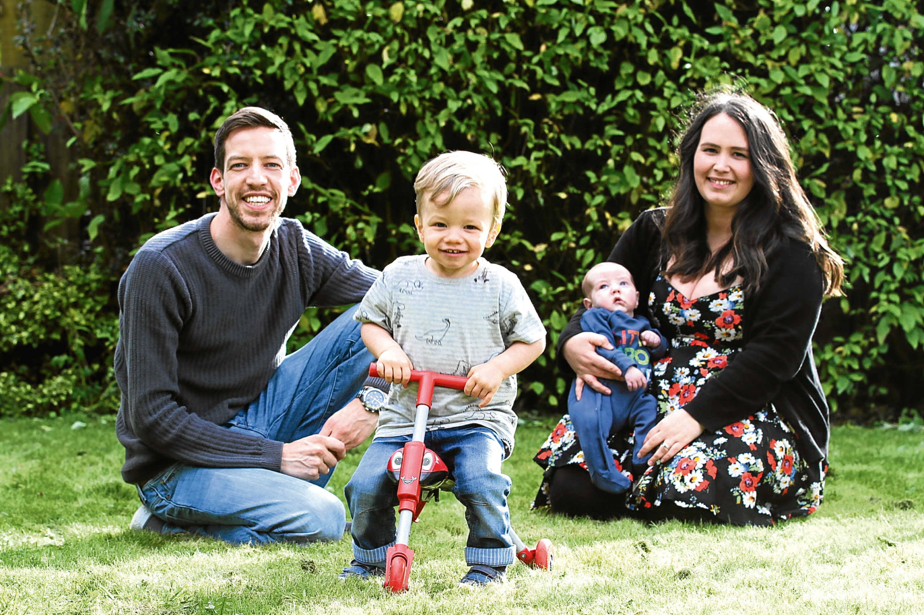 Dundee City Council leader John Alexander with his wife Sarah and sons Jack and Noah.
