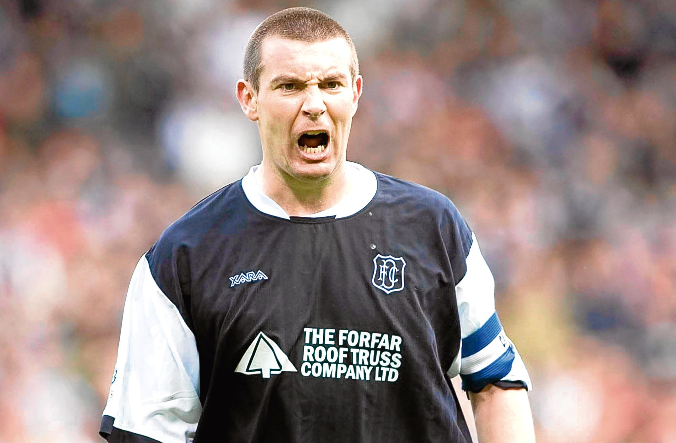 Barry in his days as a Dundee player.