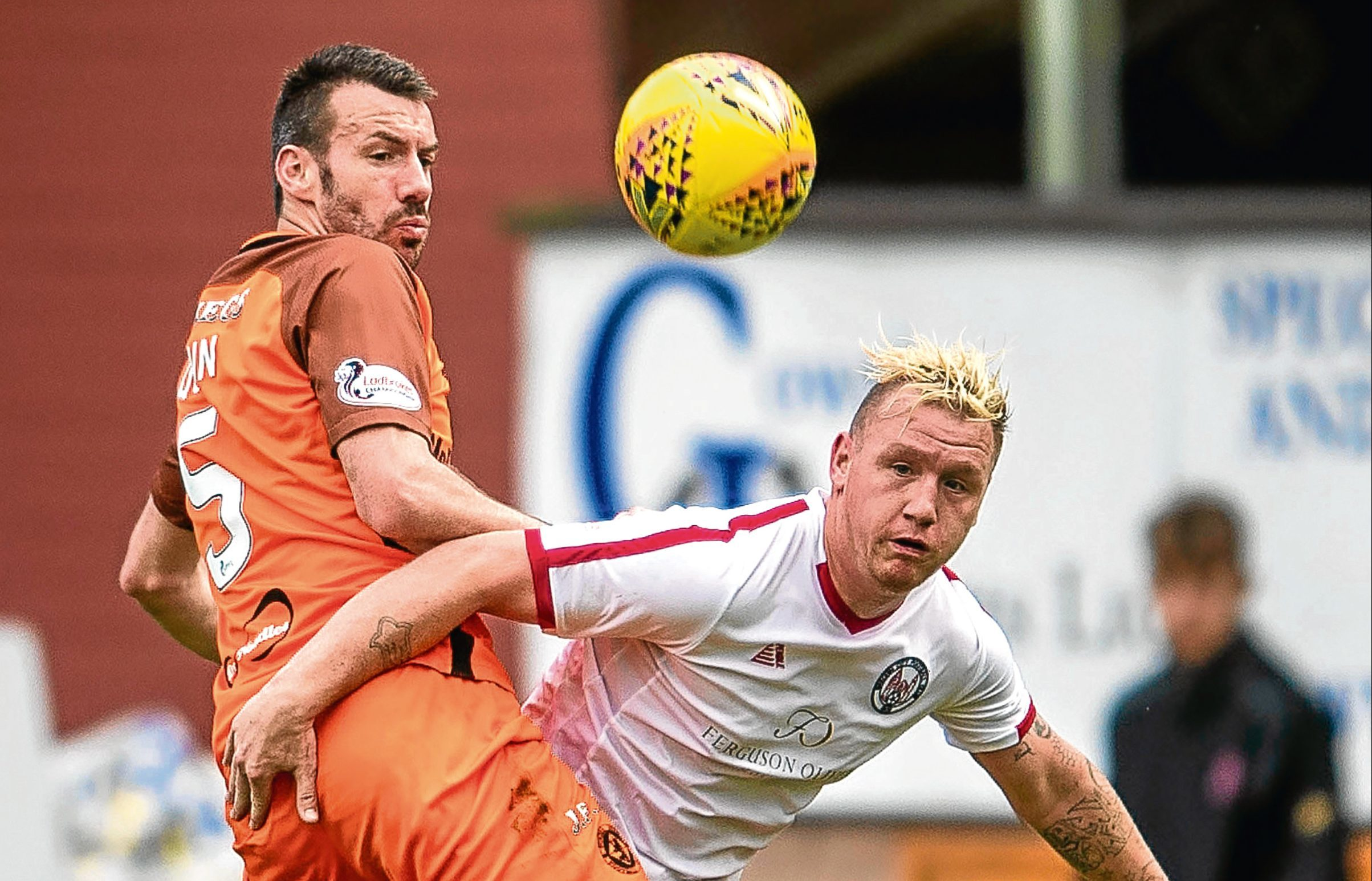 Dundee United's Paul Quinn is back training after a recent health scare sidelined the defender.
