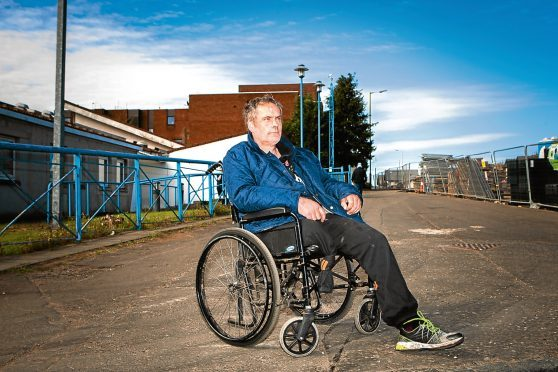 John Mottram, who used a wheelchair after losing a leg.