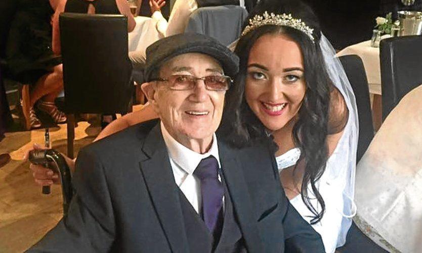 Jenna Gallazi with dad John Farrell on her wedding day