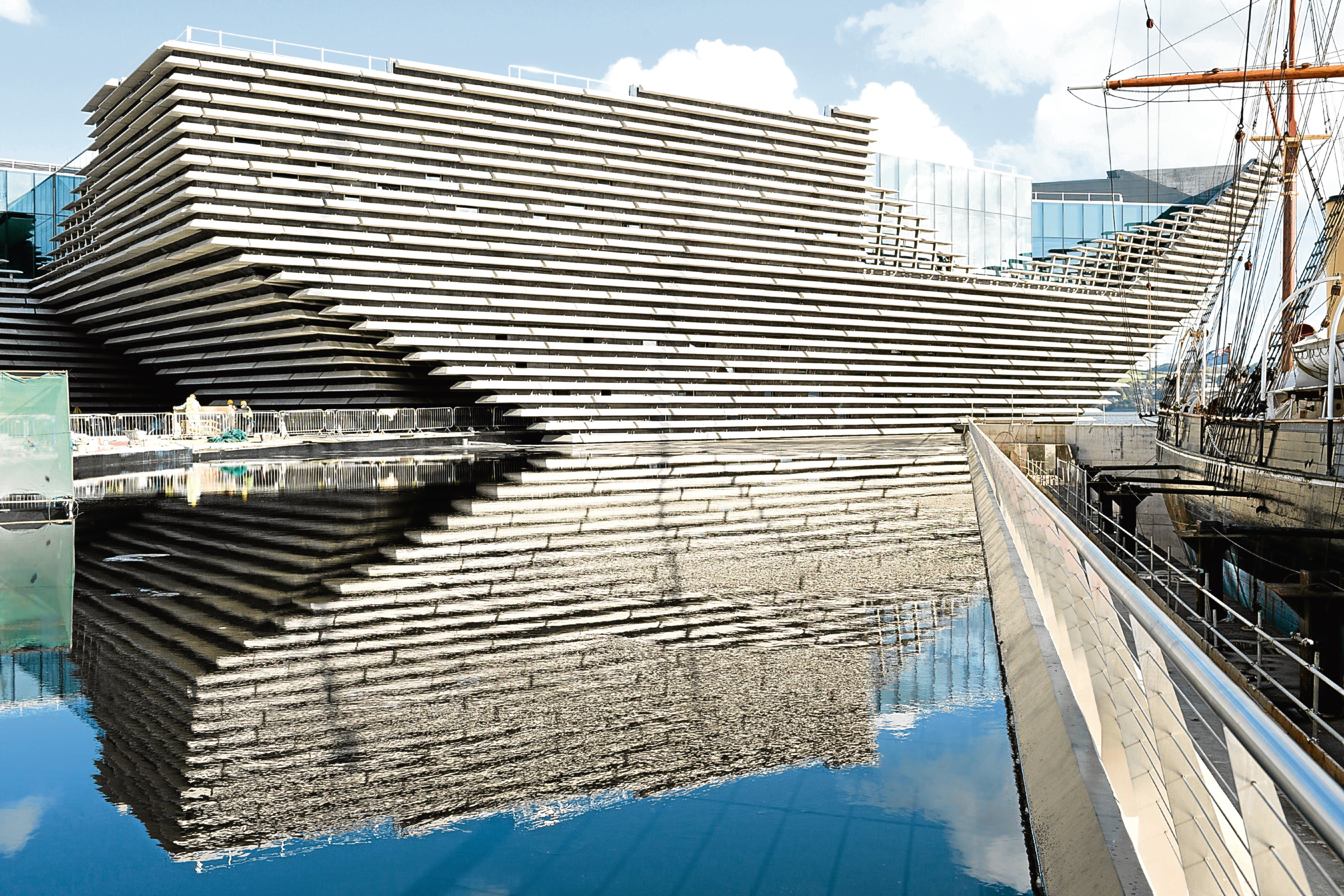 The eye-catching V&A Dundee museum