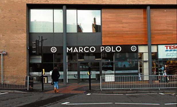 The incident happened outside Marco Polo