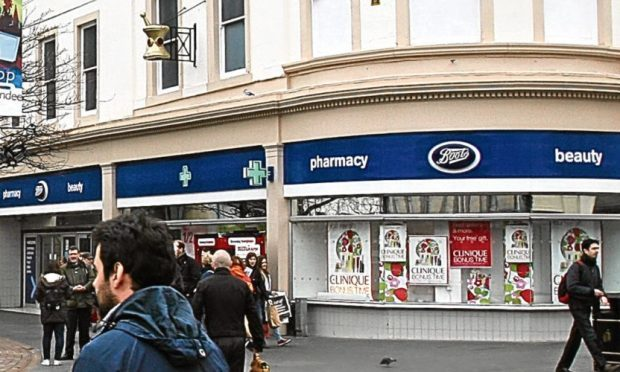 Boots on the High Street (stock image)