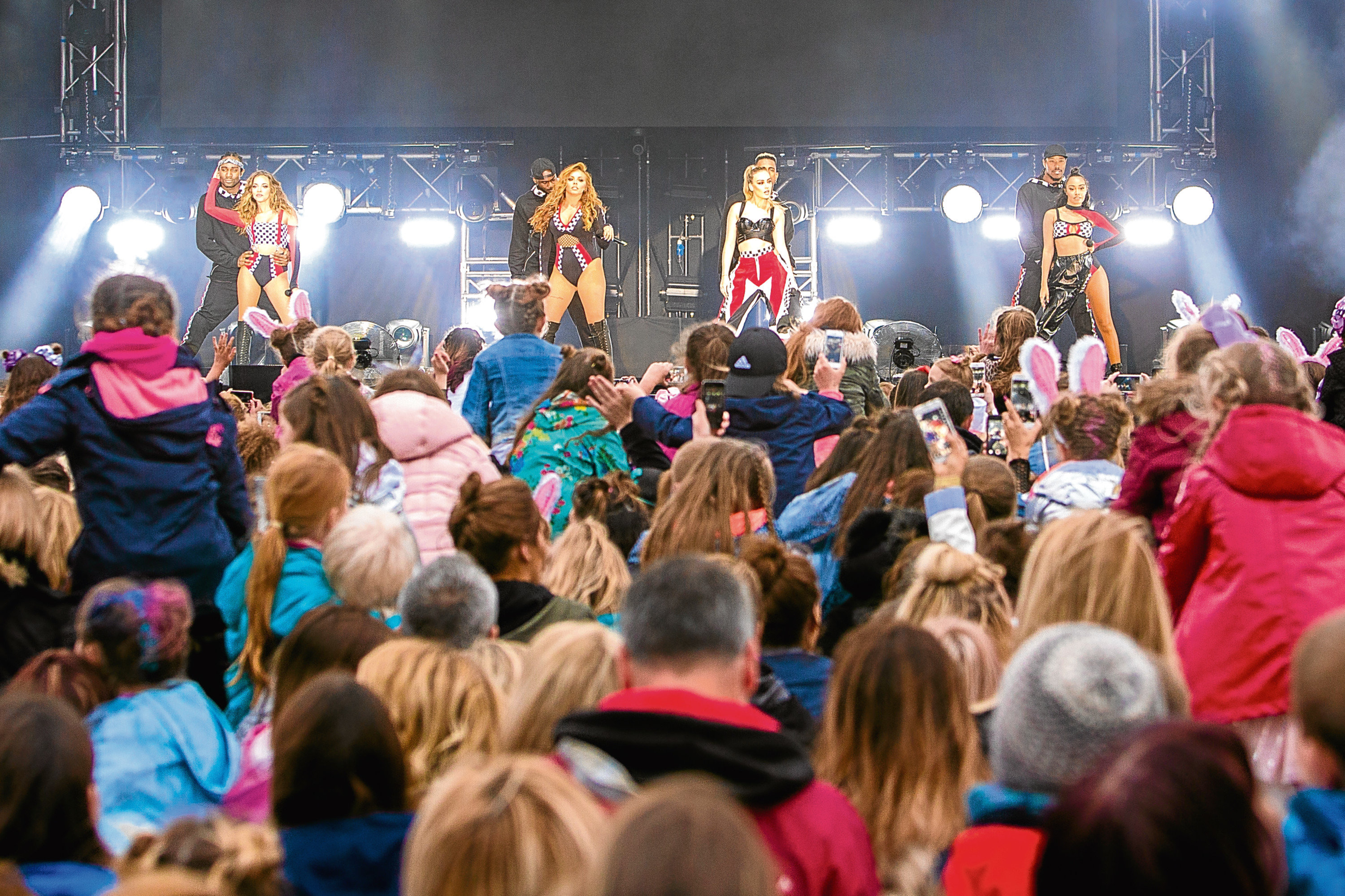 Little Mix at Dundee's Sessor Gardens