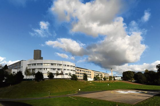 Ninewells Hospital, NHS Tayside's main base.
