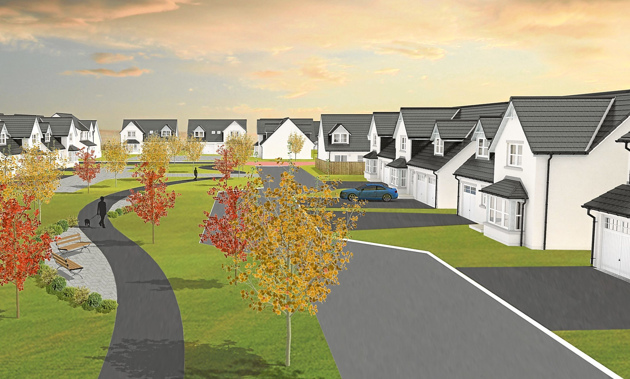 An image of how the homes would look if the project is given the go-ahead