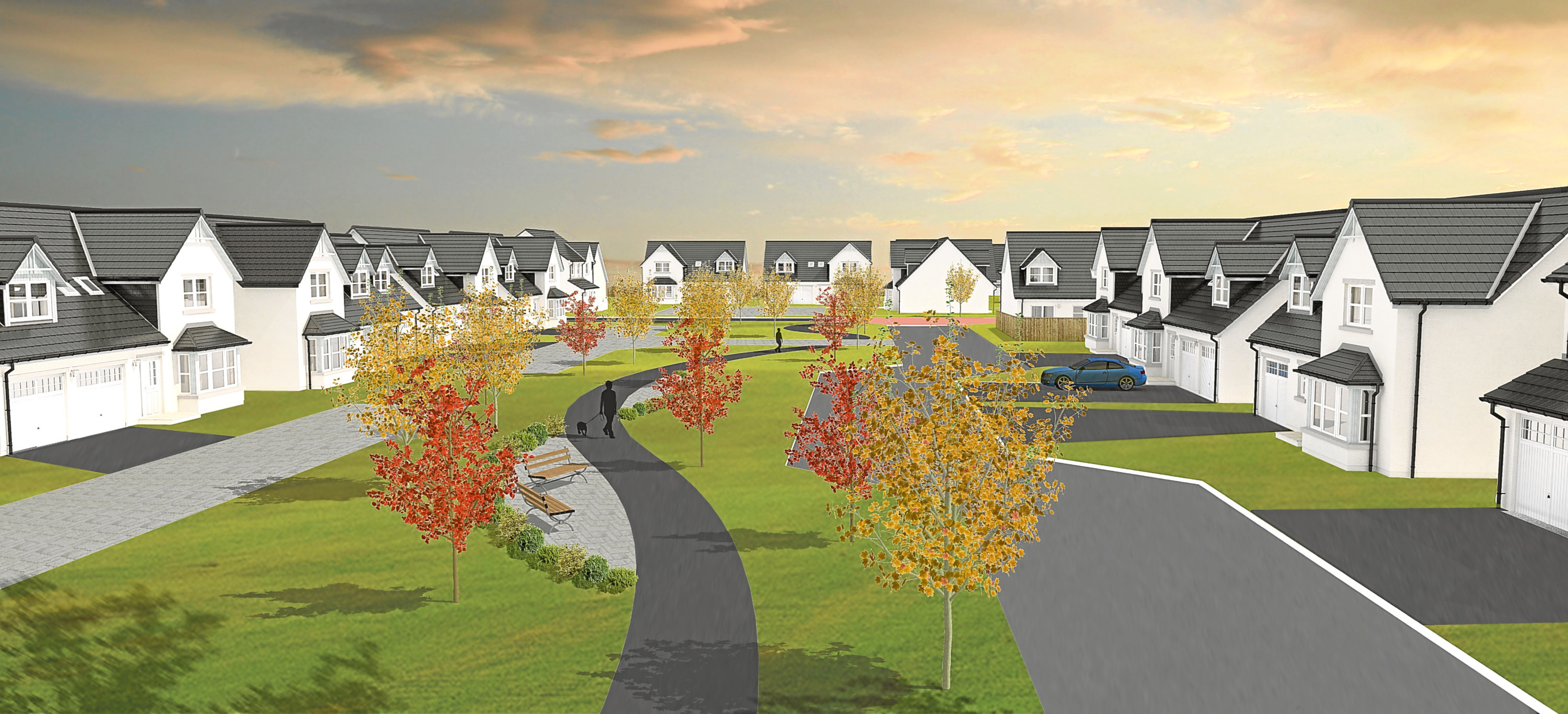 Kirkwood homes has submit plans for 150 new homes at Linlathen
