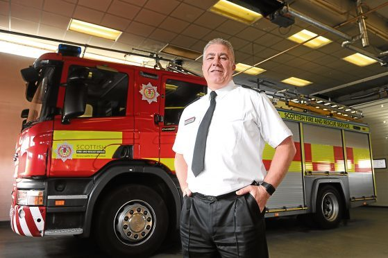Colin Grieve, Scottish Fire and Rescue Service area manager for Tayside, pictured at Blackness Road Fire Station in Dundee.