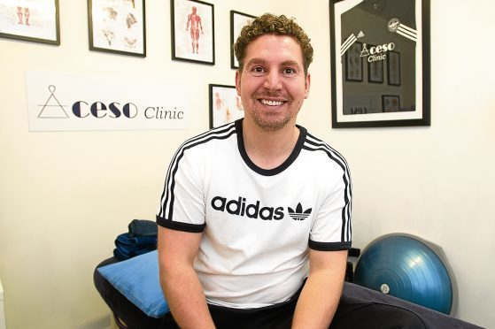 Ex-Dundee United physio, Craig Reynolds at his  North Isla Street base